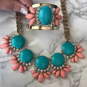 Juicy couture statement necklace and bracelet set